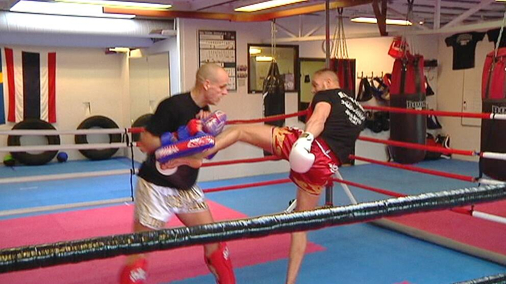 Thaiboxning. Boxningsring.