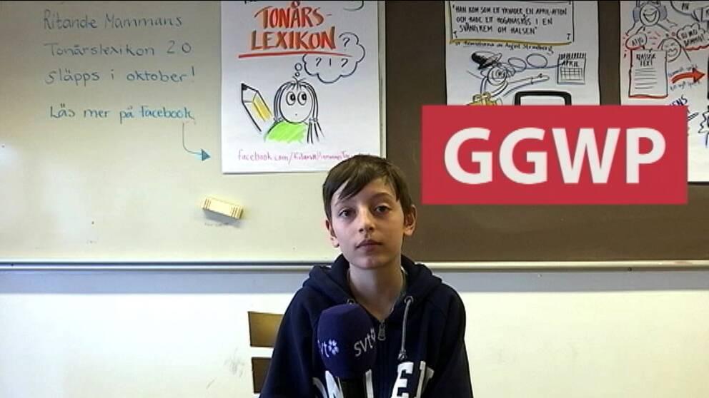 Många av orden som eleverna på Smedingeskolan använder är förkortningar.