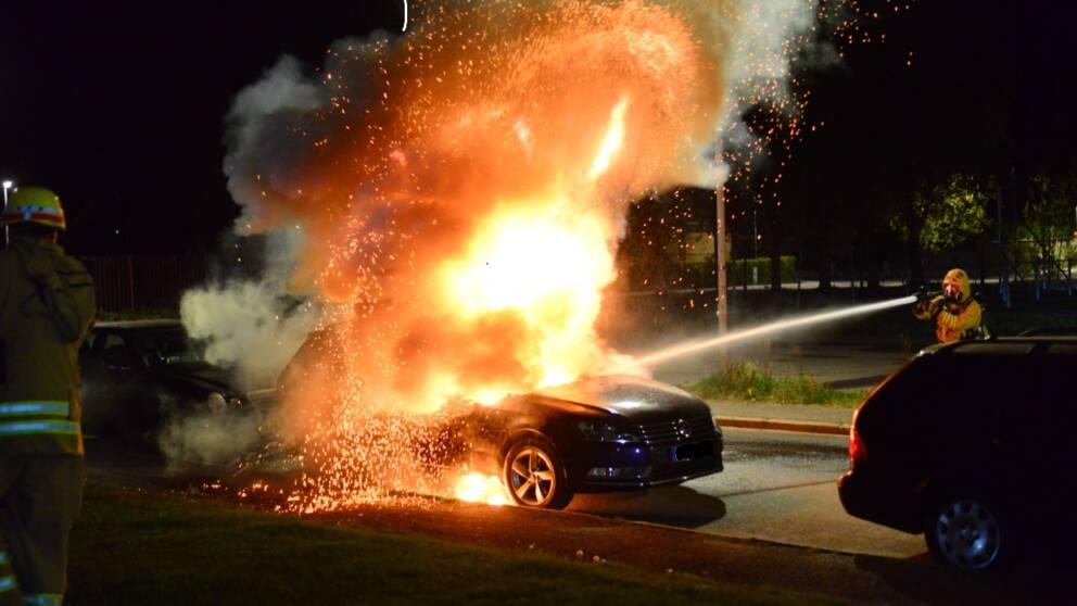 Ny bilbrand i Hageby