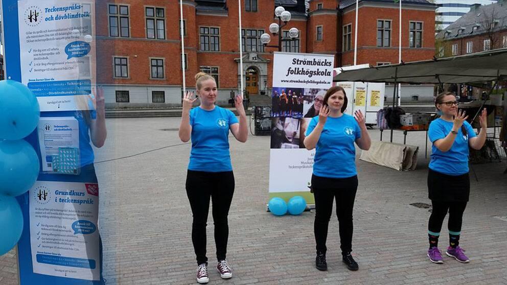 Teckenspråkets dag firas i Umeå
