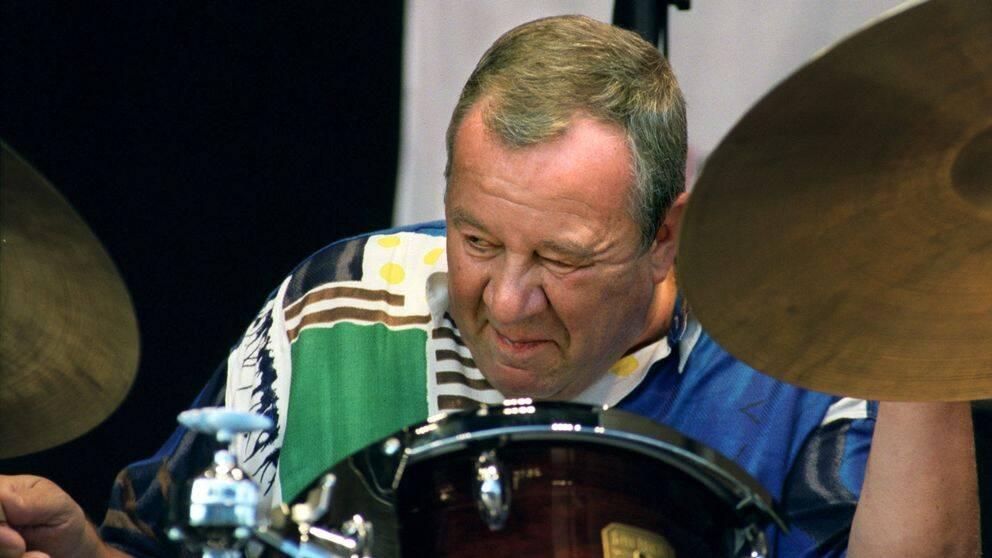 Jazztrummisen Fredrik Norén på Stockholm Jazz Festival 2001.