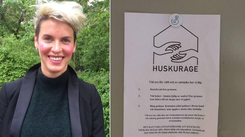 Bild på Nina Rung som är projektledare för Huskurage som Stockholmspolisen nu satsar på.