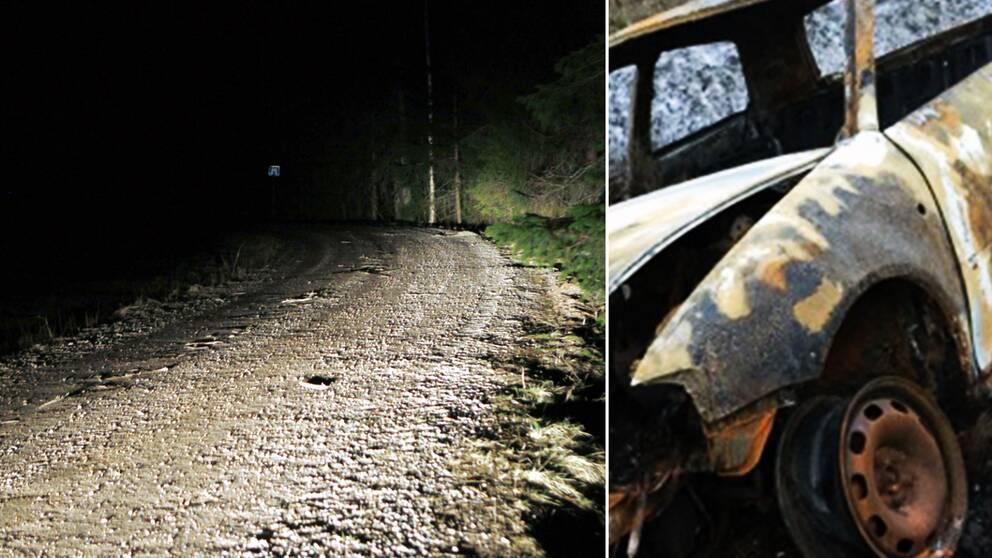 Den 32-årige mannen hittades död vid en skogsväg och en av de misstänktas bilar hittades utbränd
