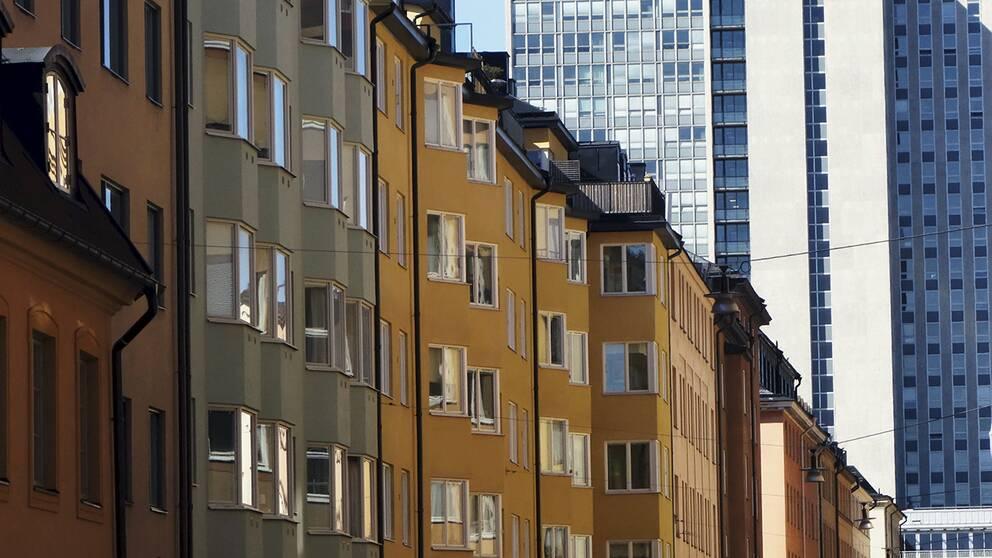 Fasader, bostadshus. Arkivbild.