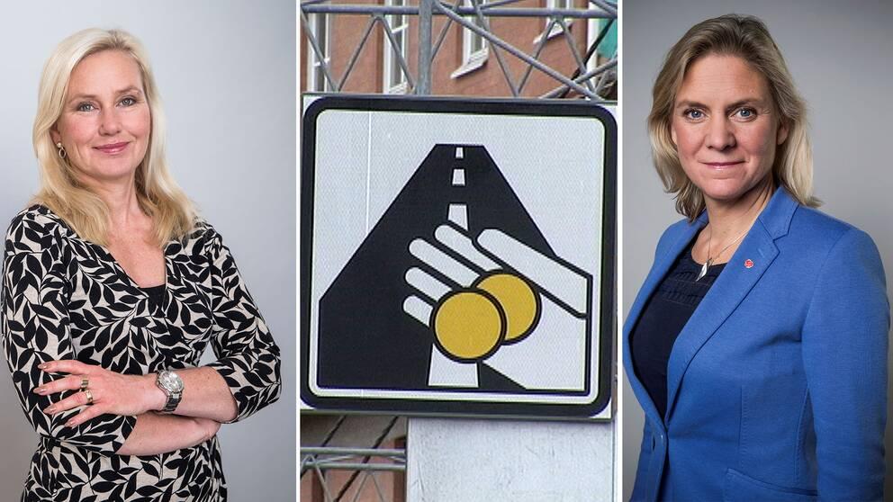 Anna Johansson och Magdalena Andersson skriver om regeringens förslag till undantag i trängselskatten.