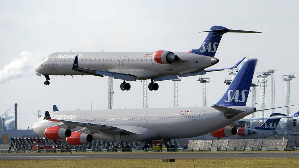Flygplan på Arlanda flygplats