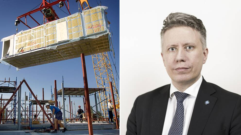 Modulhus samtSverigedemokratern David Lång.
