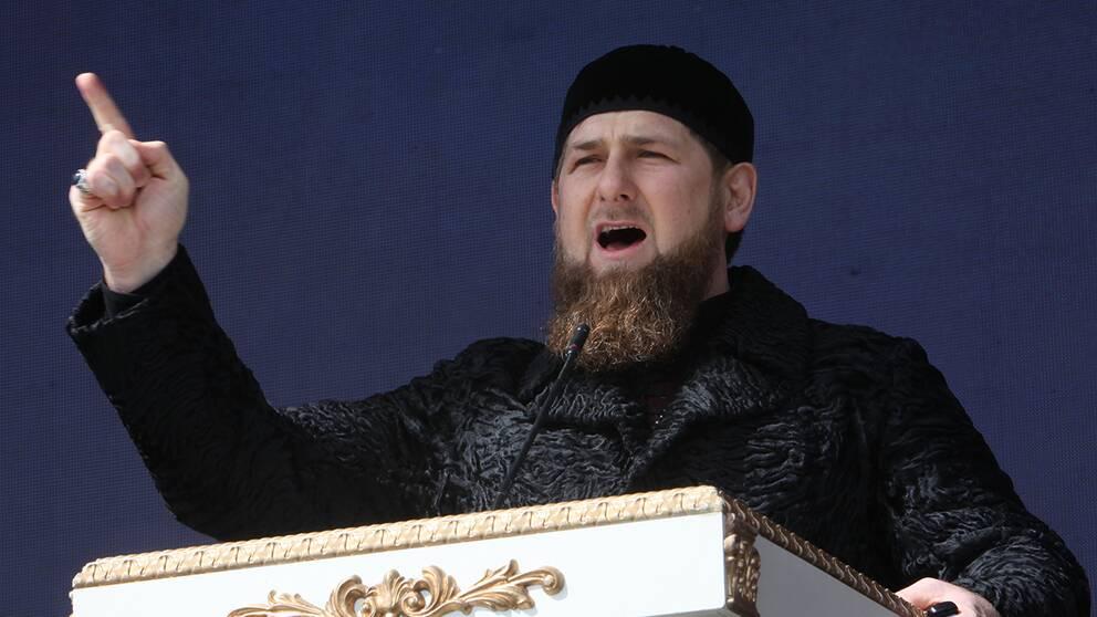 Den tjetjenske presidenten Ramzan Kadyrov.