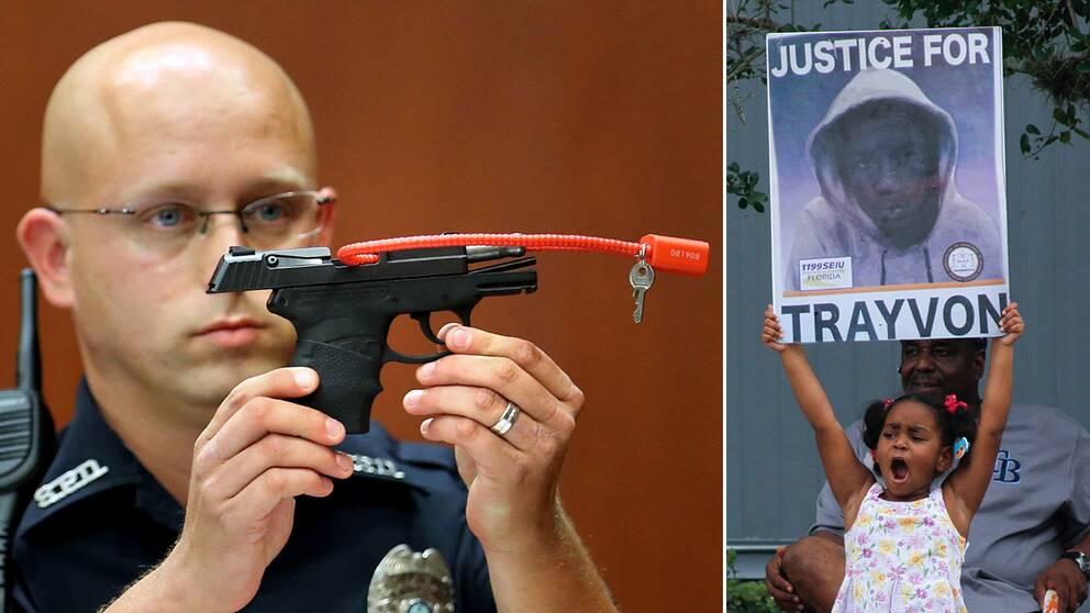 George Zimmermans pistol användes för att skjuta tonåringen Trayvon Martin till döds 2012.