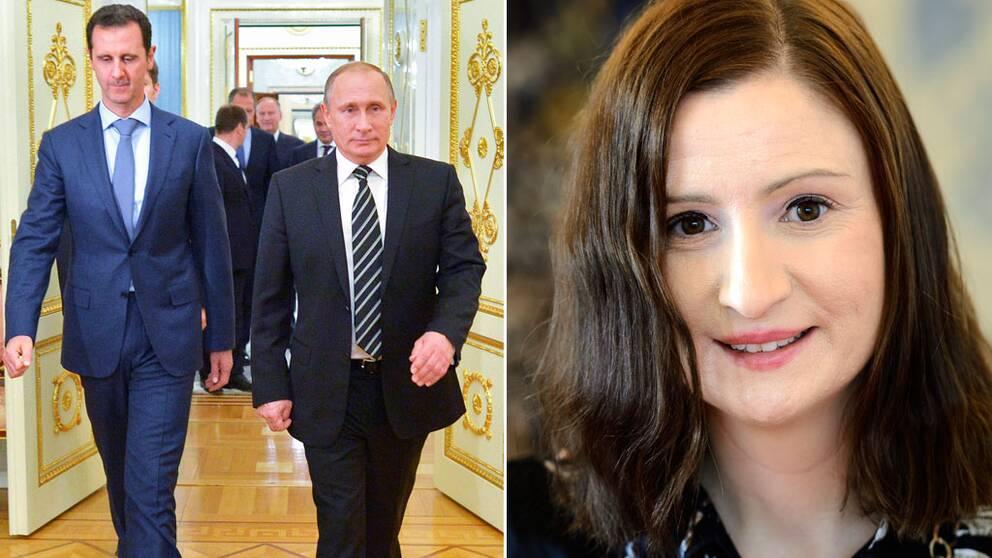 President Vladimir Putin, Bashar Assad, Birgitta Ohlsson