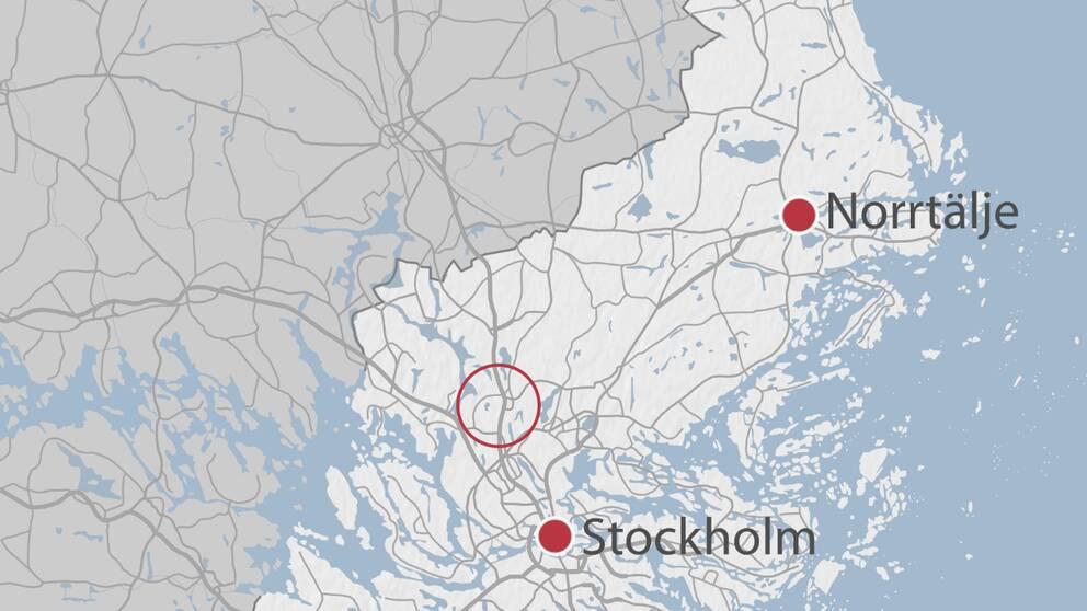 Karta över Märsta.