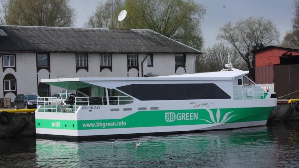 Snabbelbåt som ska testas mellan Ekerö och Stockholm.