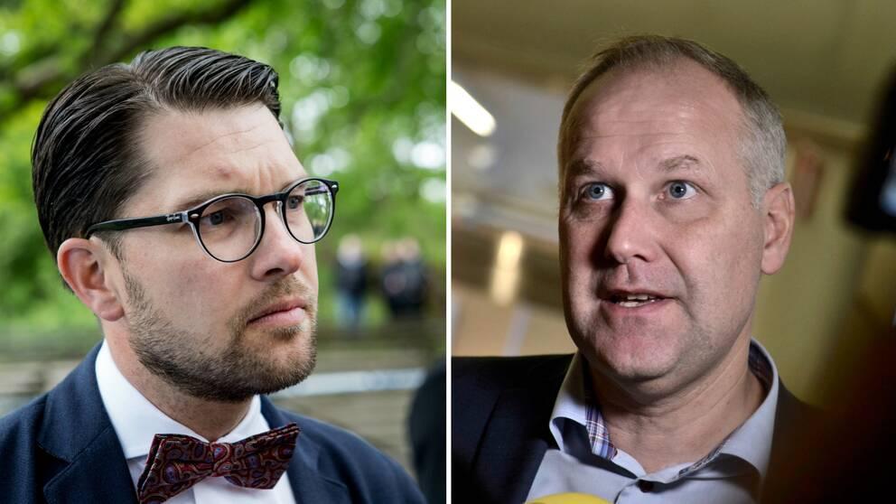 Jimmie Åkesson och Jonas Sjöstedt