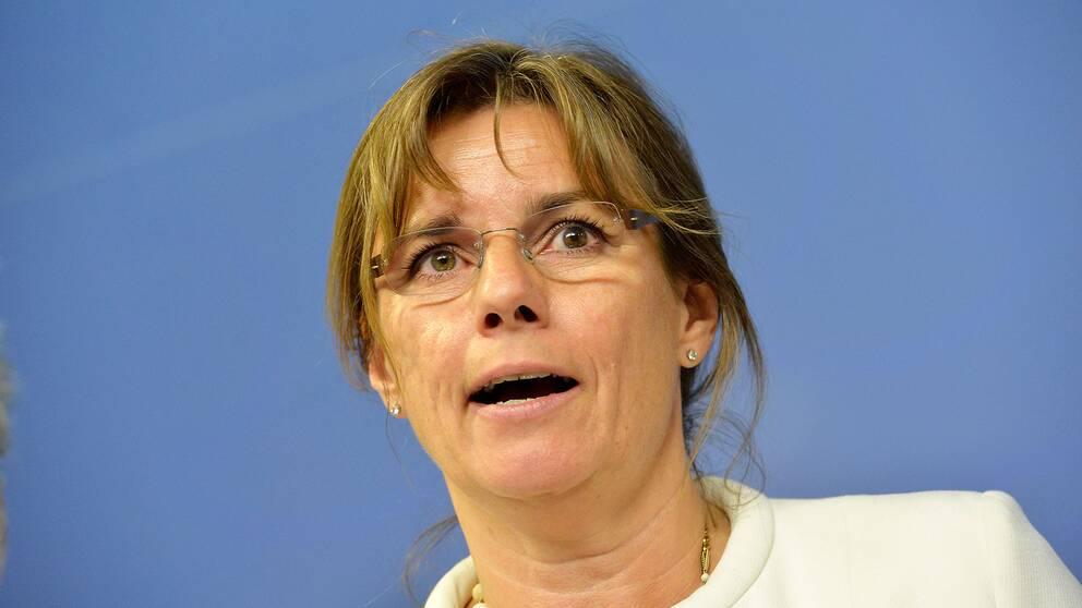 Isabella Lövin, MP, minister för internationellt samarbete för miljö och klimat