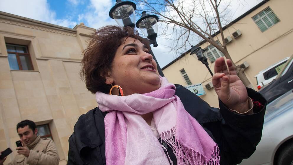 Khadija Ismayilova dömdes i höstas till 7,5 år i fängelse.