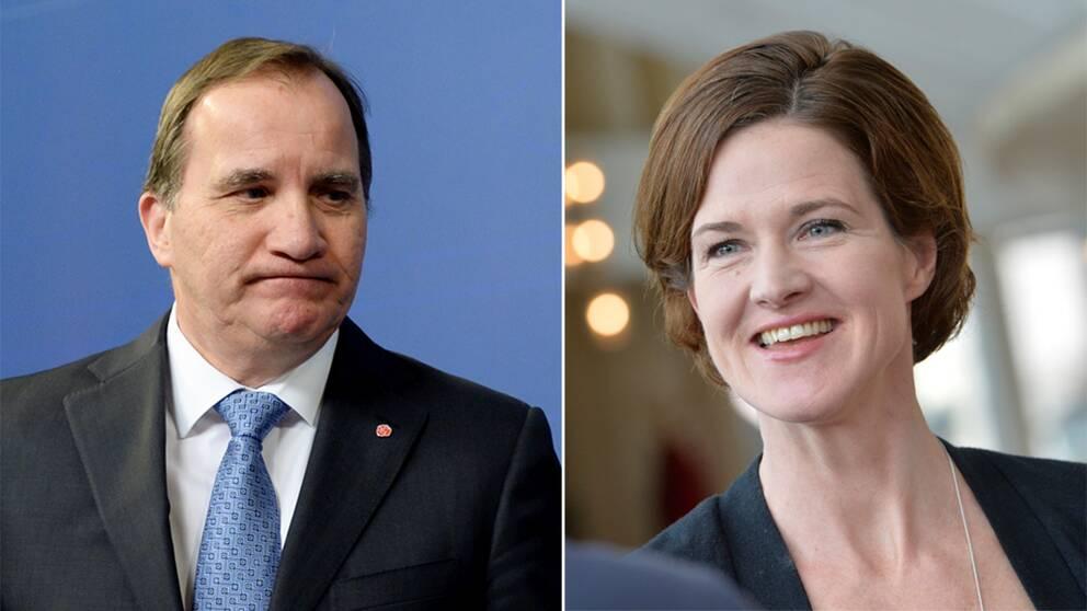 Stefan Löfven och Anna Kinberg Batra