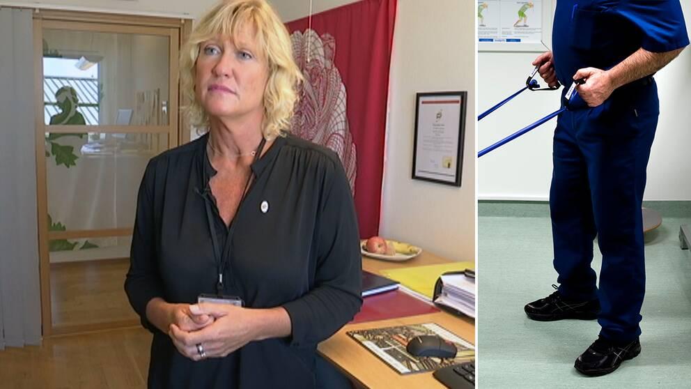 Sjukgymnasten Camilla Arvidsson är glad över uppmärksamheten.