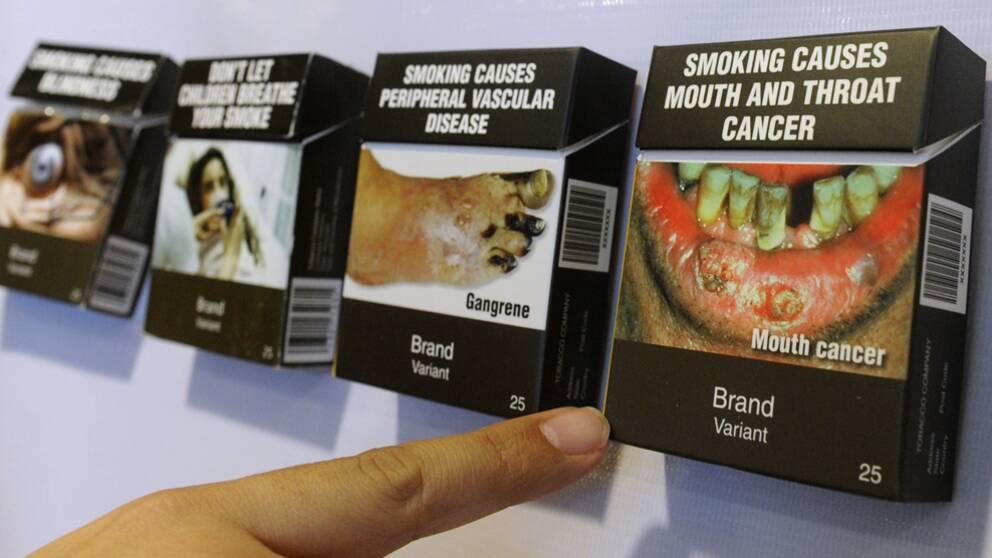 Nya chockbilder pa cigarettpaket