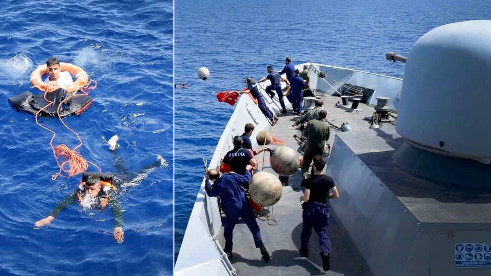 Italiensk kustbevaknings arbete på Medelhavet blir allt med intensivt när sommarvärmen är på väg – flyktingar och migranter som försöker ta sig den farliga vägen till Europa blir allt fler.