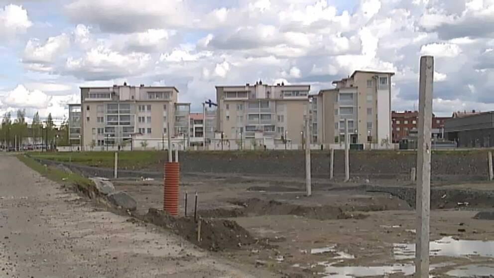 Här ska Barents center i Haparanda byggas.