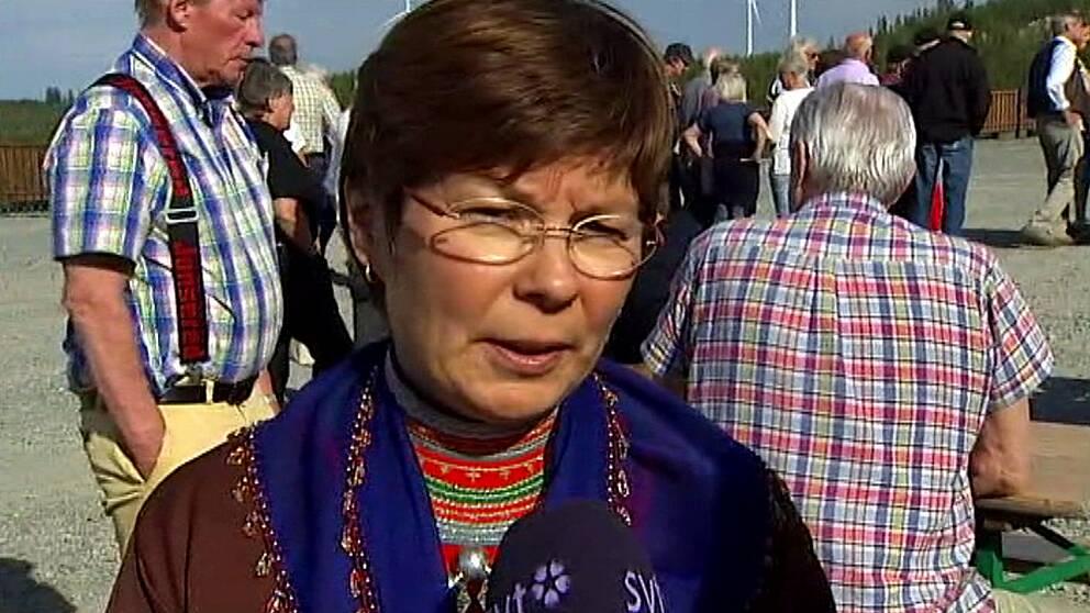 En bild på Marianne Persson, ordförande i Jijnjevaerie sameby.