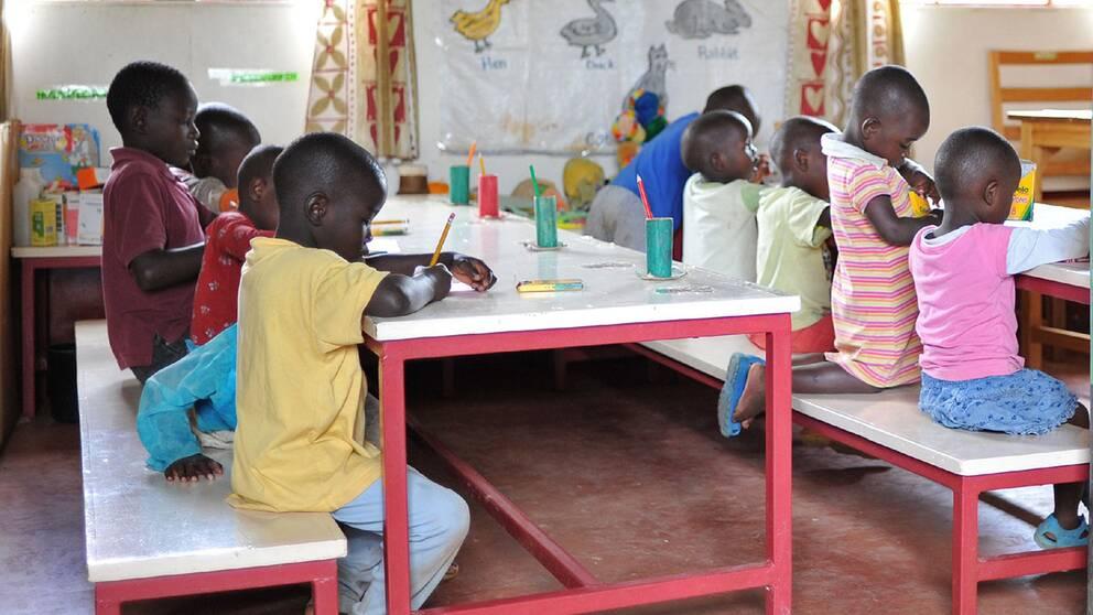 Barnhem i Kenya.