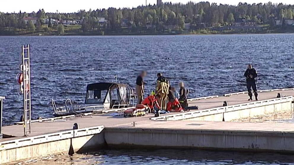 Båtolycka i Södra hamn i Luleå.