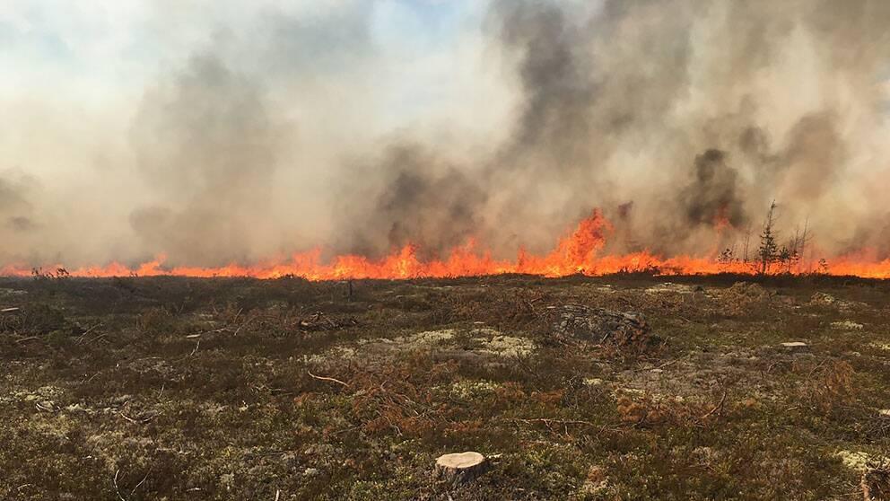 brand på hygge i Venjan