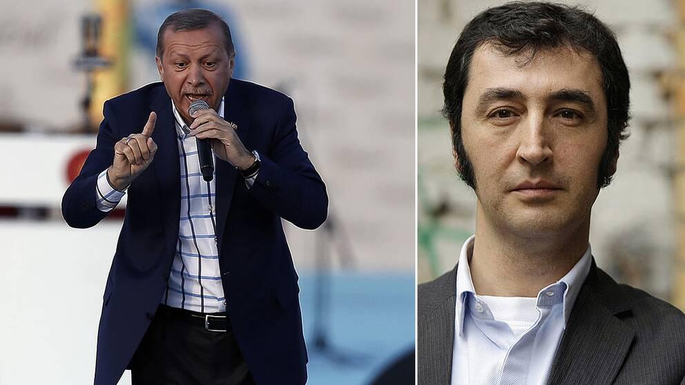 Turkiets president Recep Tayyip Erdogan och Cem Ozdemir, partiledare för De gröna i Tyskland.