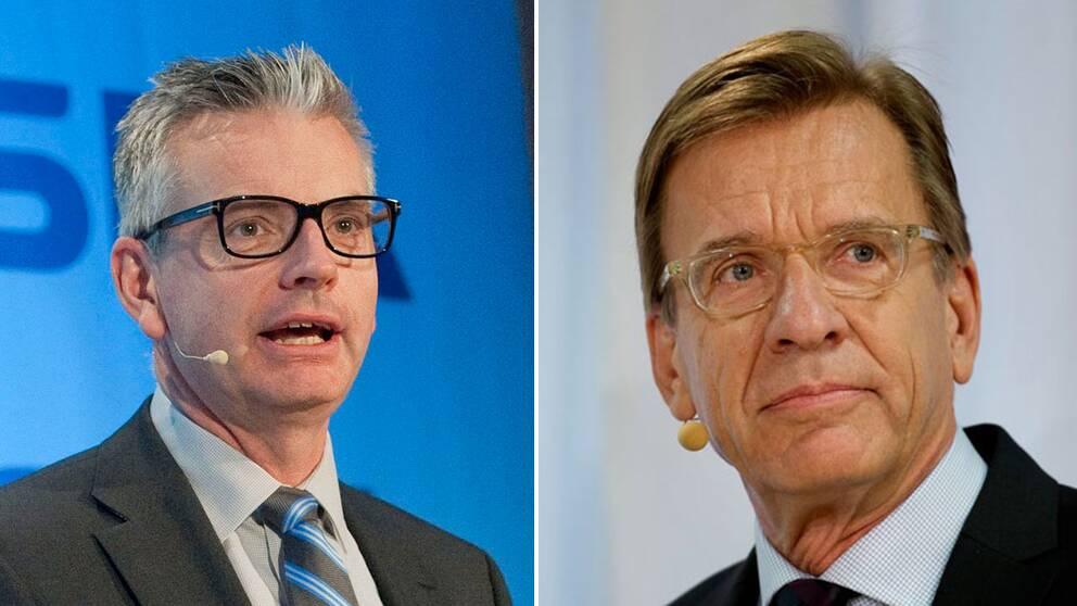 Skanskas och Volvo personvagnars vd:ar.