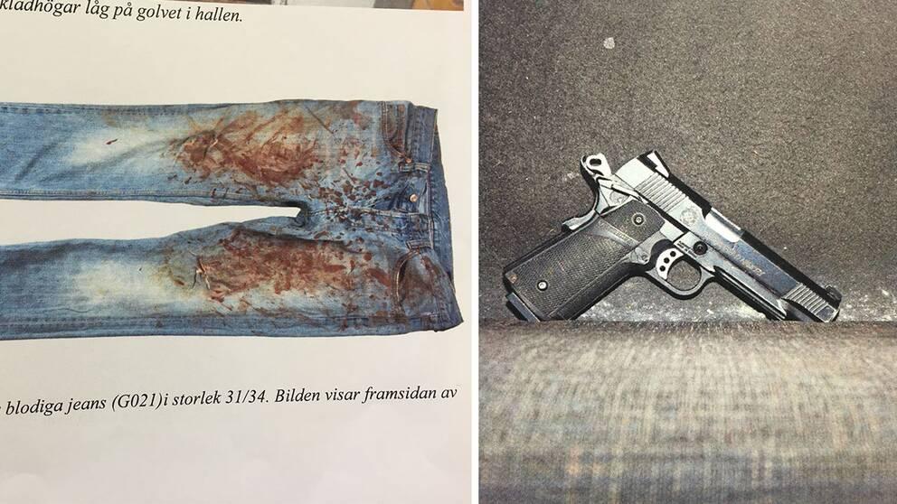 Bilder från polisens förundersökning
