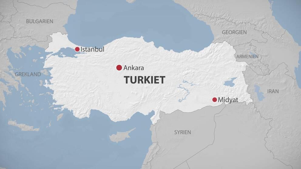 Karta över Turkiet