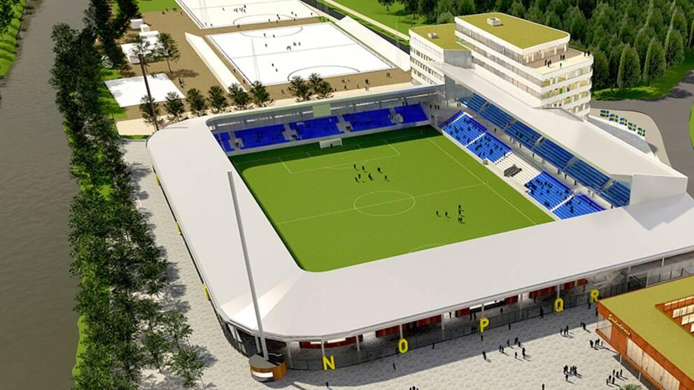 Nya fotbollsarenan på Studenternas ska stå klar 2021.