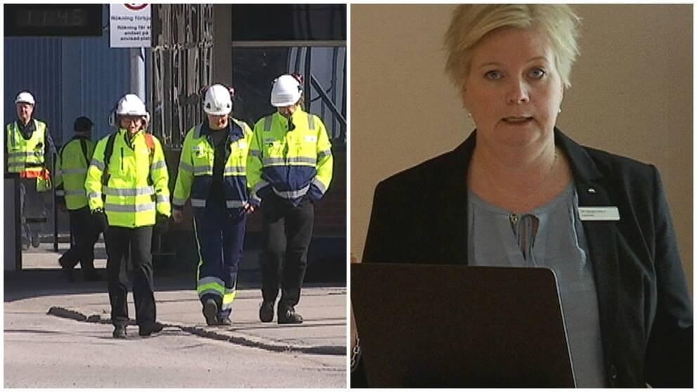 Arbetsförmedlingens chef i Gävle, Charlotte Humling, berättade om läget på arbetsmarknaden under onsdagen.
