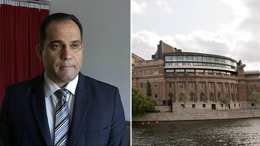 Srood Maqdasy är assyrier och kommer under ondagskvällen att tala inför svenska riksdagsledamöter.