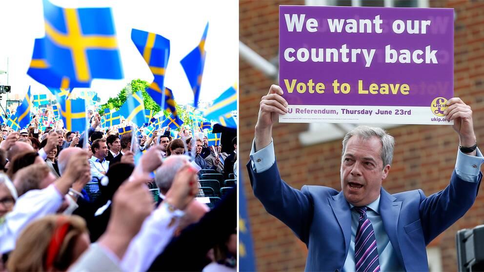 Sverige, Brexit, Nigel Farage