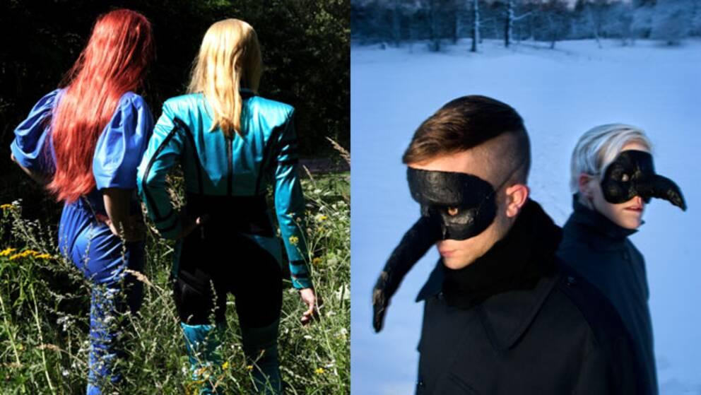 The Knife-syskonen Dreijer till höger. Nya pressbilden till vänster.