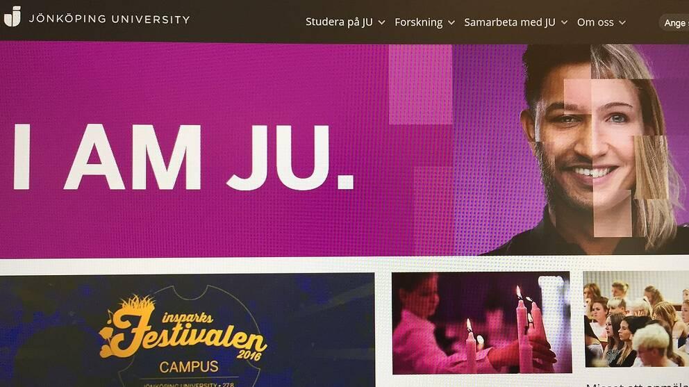 Jönköping University hemsida