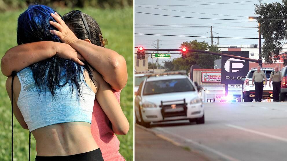 Sorg efter masskjutningen i Orlando, Florida
