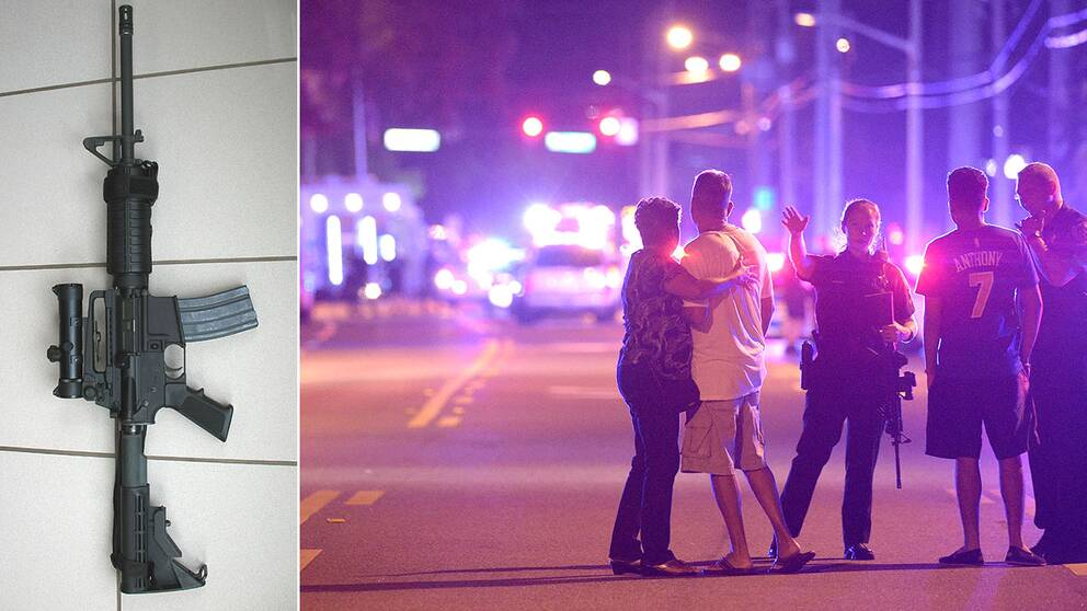 Vapnet använt i dådet i Orlando, AR-15, har använts vid flera skjutningar i USA.
