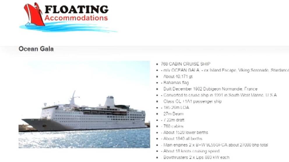 Kryssningsfartyget Ocean Gala