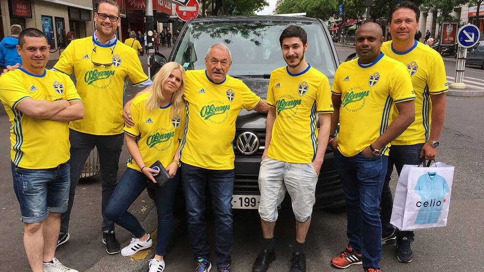 gänget tog taxi till Paris och fotbolls-EM