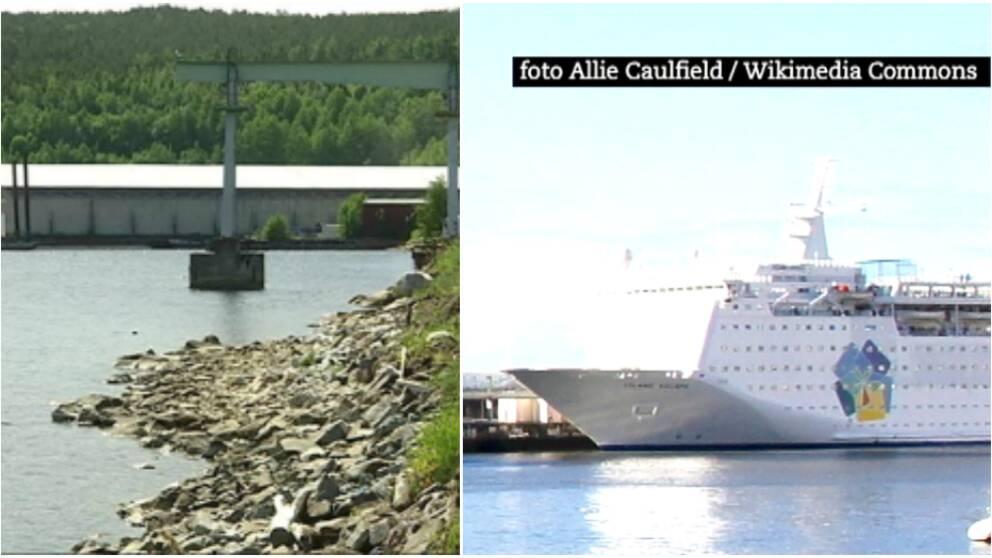 Hamnen i Utansjö och fartyget Ocean Gala