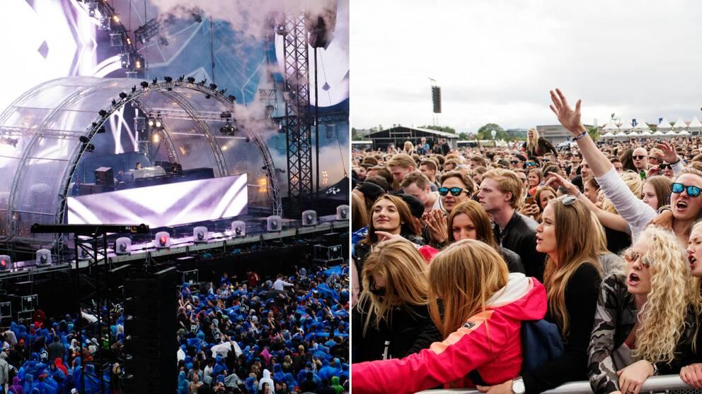 Summerburst i Stockholm på Gärdet.