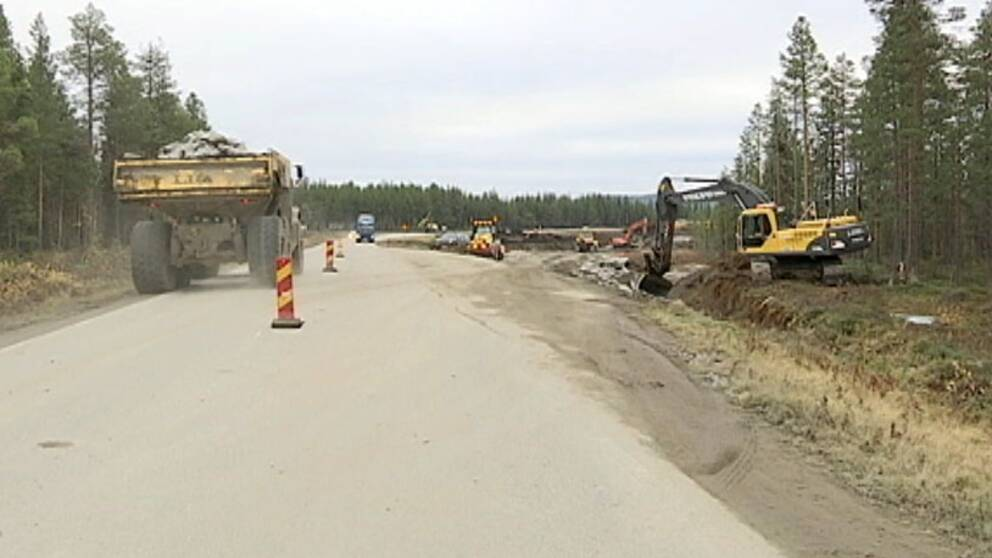 Ombyggnation av vägen från gruvan i Kaunisvaara