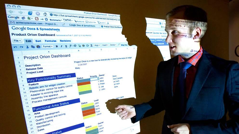 Arkivbild från 2007 då försäljningschefen Fredrik Niklasson presenterade Googles företagstjänst.
