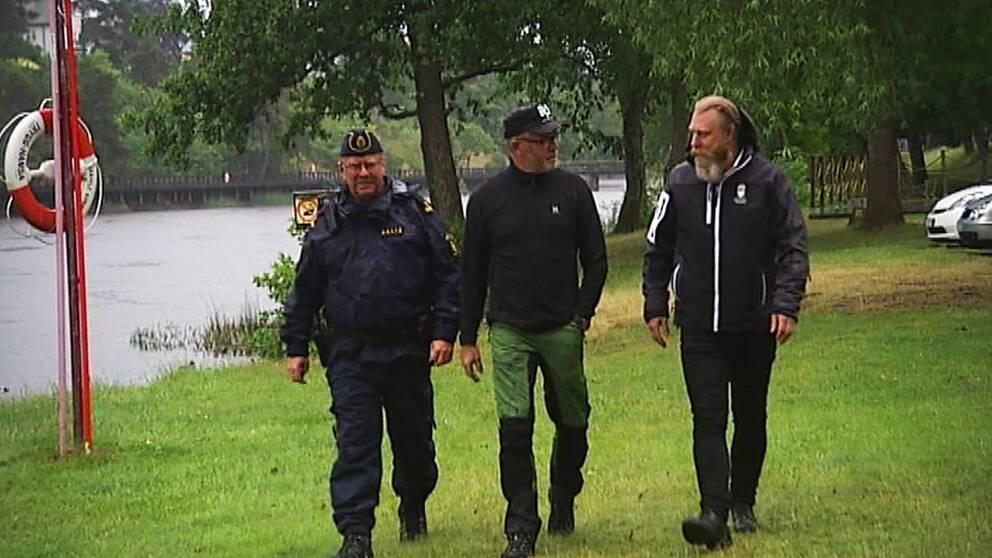 Representanter polis, länsstyrelsen och Säffle sportfiskeförening.