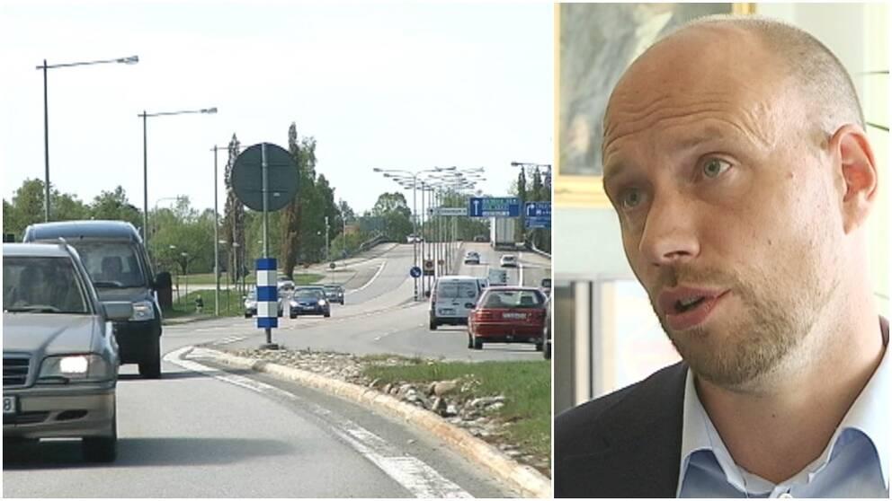 Trafik, bilar, Hans Lindberg (S), kommunalråd i Umeå