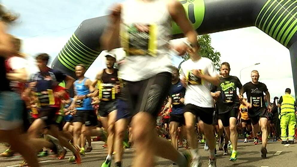 Över 3000 sprang i dagens tävling