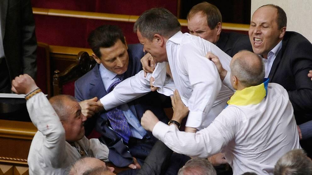 Bråk i Ukrainas parlament
